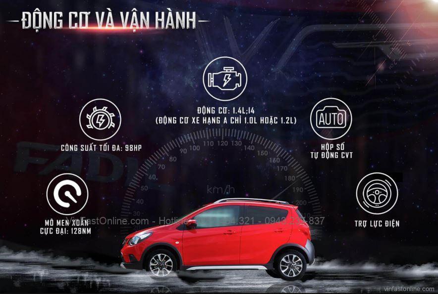 Động cơ của xe oto VinFast Fadil