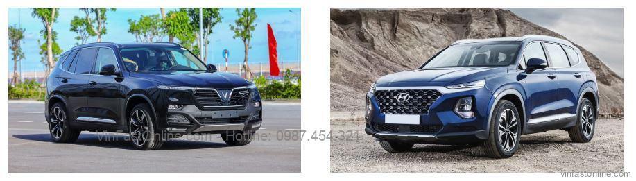 So sánh VinFast Lux SA2.0 và Hyundai SantaFe 2020 (máy xăng cao cấp)