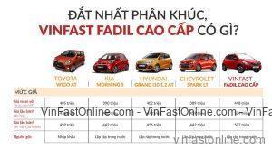 So sánh xe VinFast Fadil và các đối thủ trong phân khúc hạng A