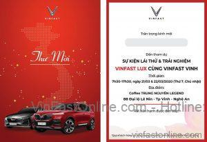 Thư mời lái thử và Trải nghiệm xe VinFast Lũ