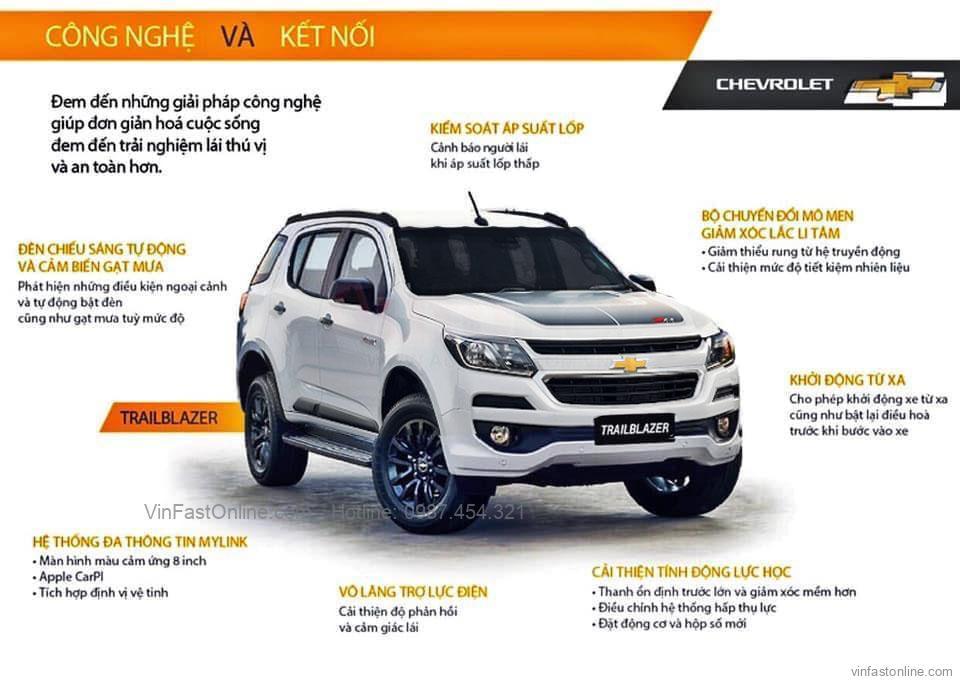 Xe Chevrolet Trailblazer giảm giá sốc