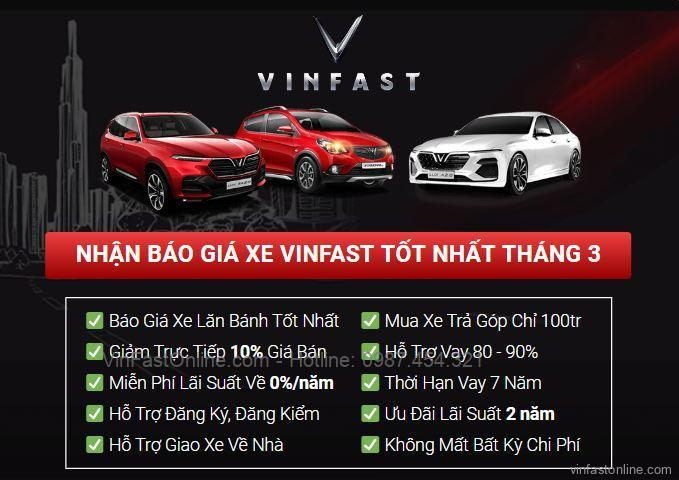 Mua xe VinFast Fadil giá lăn bánh và khuyến mãi tại Tp Vinh, Nghệ An