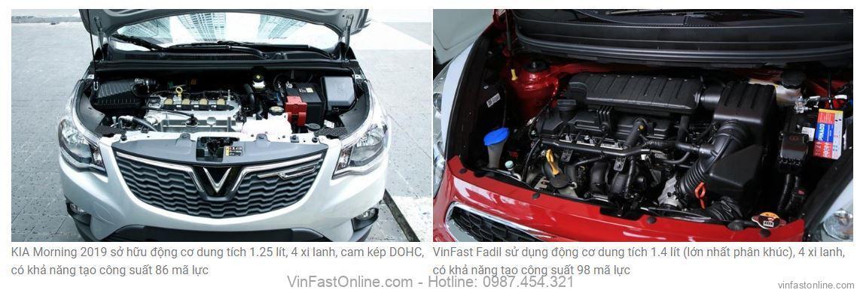 So sánh động cơ, vận hành KIA Morning và VinFast Fadil