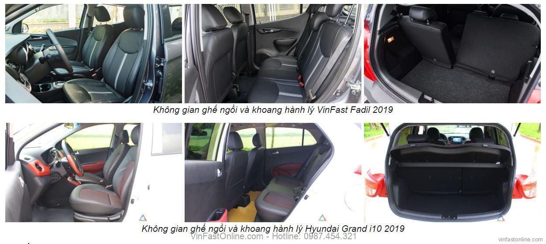 So sánh nội thất VinFast Fadil Hyundai Grand i10
