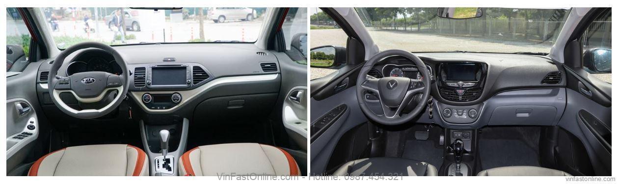 So sánh tiện ích của xe Fadil với xe Kia Morning