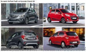 So sánh xe VinFast Fadil và Huyndai Grand i10 chi tiết nhất