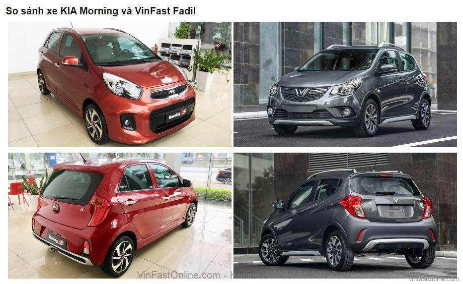 So sánh VinFast Fadil và KIA Morning