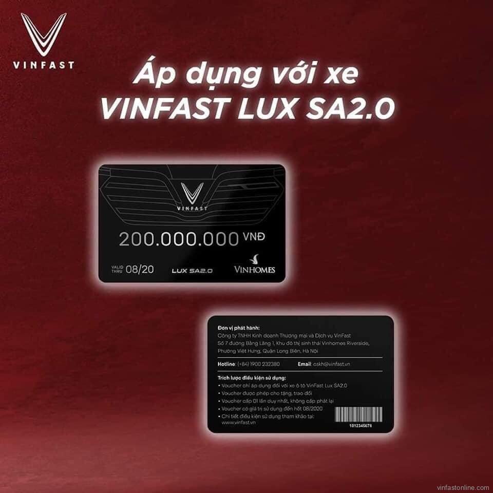 voucher VinFast lux sa