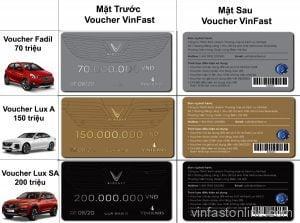 Các loại Voucher định danh mua xe VinFast