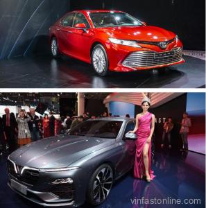 so sánh xe vinfast lux a 2.0 và toyota camry 2.5Q