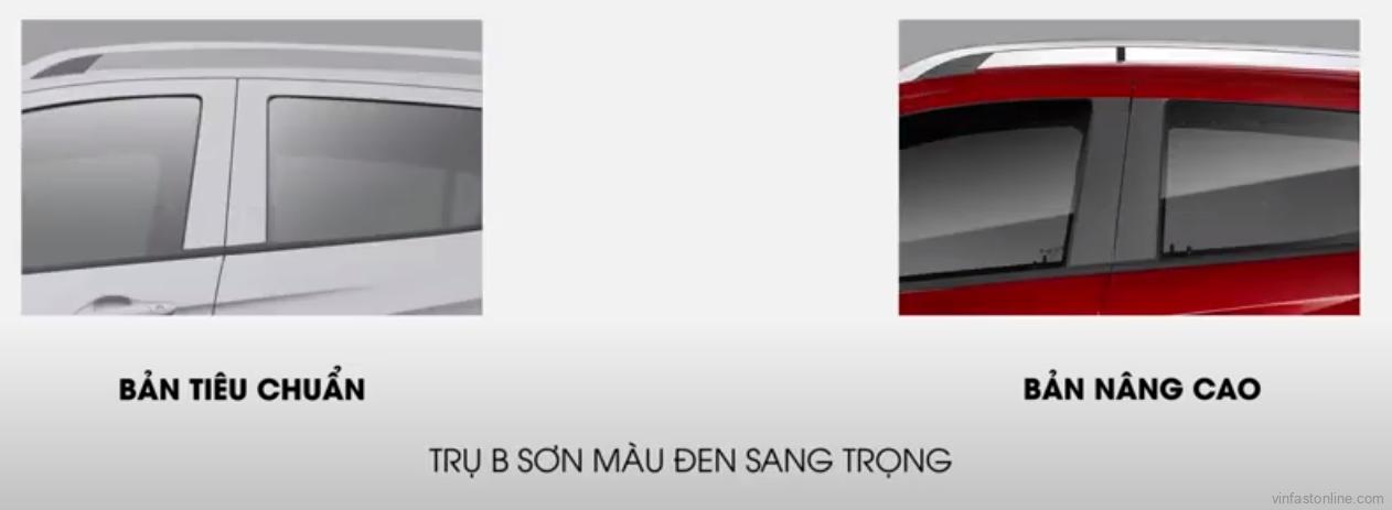 Fadil tiêu chuẩn trụ B cùng màu xe- Fadil nâng cao trụ B màu đen sang trọng