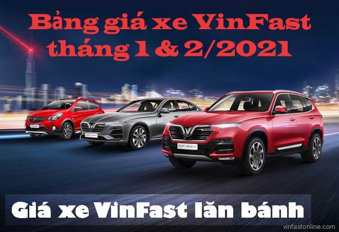 Bang Gia Xe Vinfast 2021 Lan Banh