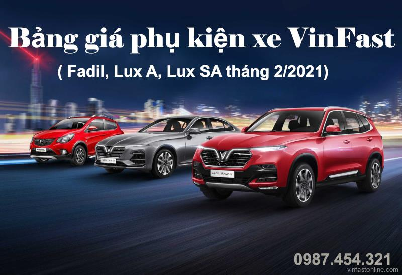 Bang Gia Phu Tung Vinfast Thang 2 2021